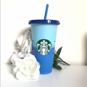 Blue color changing Starbucks cup